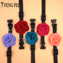 New Sweet Rose Flower Pet Dog Collar 5 Candy Color Puppy Dog Necklace Collar Collar Perro Dog Accessories For Small Dogs