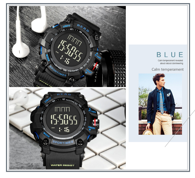 luxury brand READ LED digital wristwatches for men waterproof shock resist military watch free shipping 2018 (20)