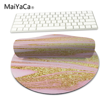 MaiYaCa Design Modern Faux Glitter Gold Marble Unique Computer Animation Desktop Pad Rugs Mouse Pad Round Round Mouse Mice