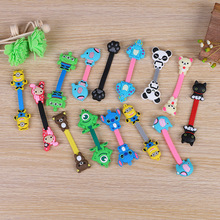 30pcs/lot Cartoon Elephant Bear Cartoon Cable Winder Headphone Earphone Cable Wire Organizer USB Cord Holder(China)