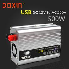 USB 500W DC 12V to AC 220V Off Grid inverter Car Solar Power Inverter Inversor Universal Socket with USB DOXIN ST-N016