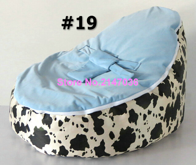 Cow Lily Flower Purple Leopards Pattern Baby Bean Bag Chair Beanbag Sofa