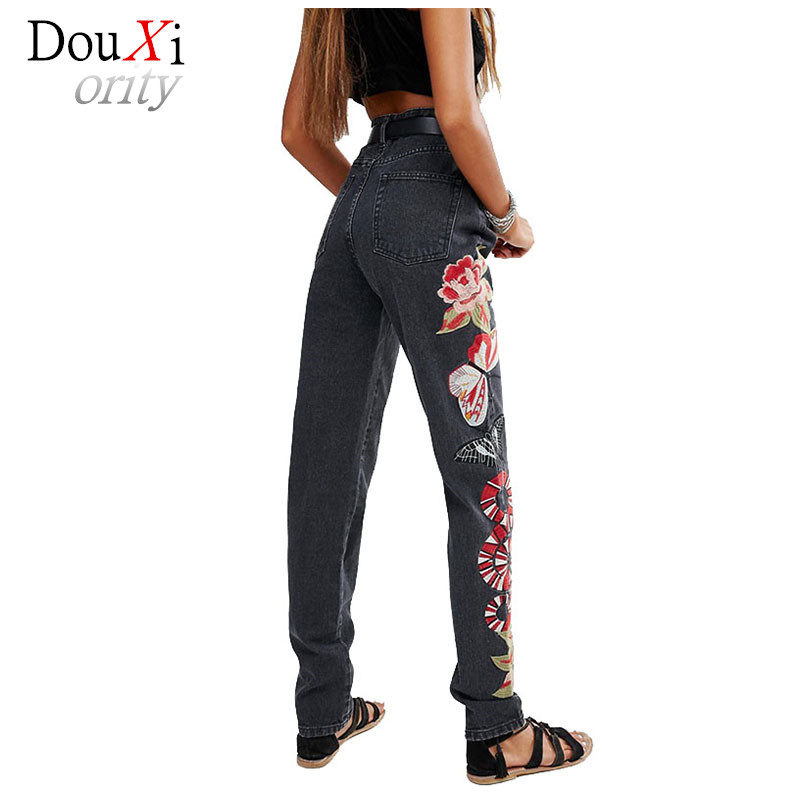 New Spring Autumn Women Jeans Ripped Harem Pants Vintage Button Fly Jeans Denim Trousers Loose Embroidery High Waist Jeans  Одежда и ак�е��уары<br><br><br>Aliexpress