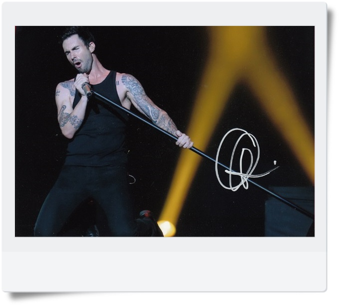 signed Adam Levine autographed photo  7 inches famous Pop singer  freeshipping 08201703<br>