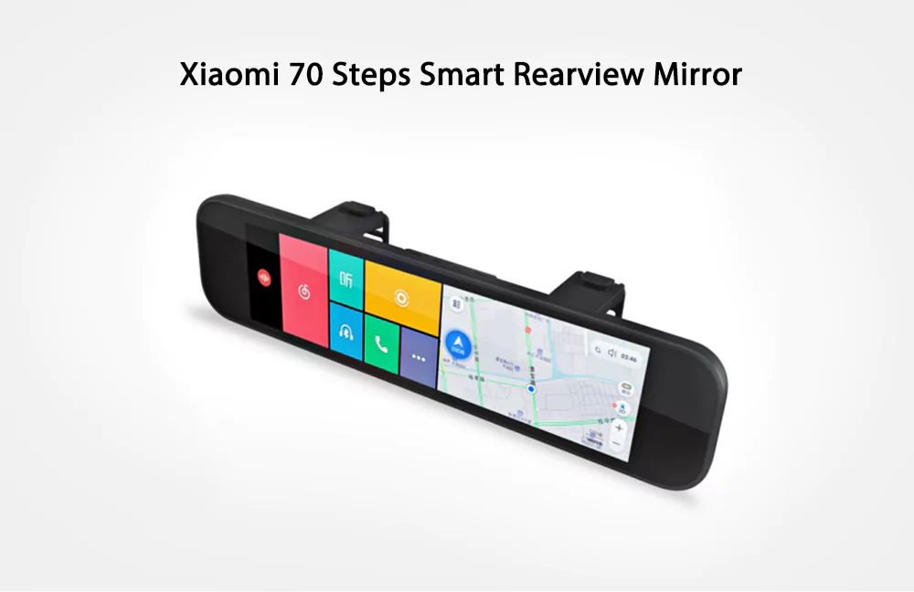 Xiaomi 70 minutes Rear View Camera Car DVR registrar WiFi Bluetooth ADAS Smart Rearview Mirror 160 degree G sensor GPS F1.8 microphone speacker dash cam (2)