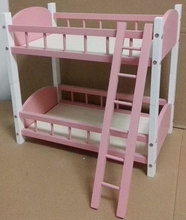[wamami] 87# Blue Wood Bed/ Bunk Bed Frame Double-decker For 1/4 &1/6 BJD MSD OD Dollife