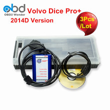 3Pcs/Lot For Volvo Diagnostic Tool For Volvo Dice Pro+ With 2014D Full Chip For Volvo Vida Dice Pro Firmware Update VIDA In One