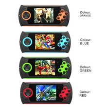 2pcs 16 bit clear Handheld Game console Player Support TV Out Put support MP3/Mp4 Multimedia Video Game Console video games