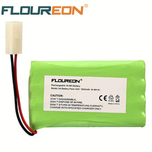 Ni-MH AA FLOUREON 9.6V 1800mAh Rechargeable Battery Pack with Tamiya Connector for RC Car Boat(China)