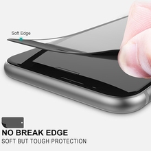Roybens 3D 9H Full Coverage Cover Tempered Glass Screen Protector For iPhone 6 6S Plus iPhone 7 Case Soft Side Black White Film(China)