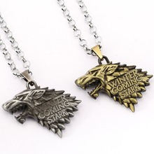 Game of Thrones Necklace Song of Ice and Fire Stark Targaryen Pendant Necklace Friendship Men Women Jewelry Choker Accessories(China)
