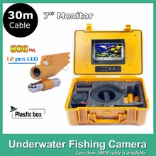 "30M Cable 7"" TFT LCD Monitor 24pcs LED Light 600TVL camera Underwater Endoscope Video Inspection Fishing Camera Ki(China)"