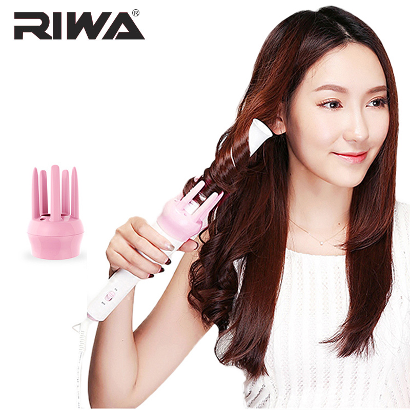 Women Automatic Styling Hair Curler Roller Rechargable Curls Wand Waver Iron Ceramic Heating Electric Styling Accessories Tools