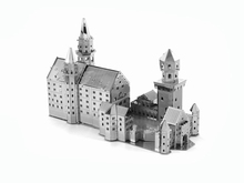 Hot 3d metal puzzle model diy metal building assembly model nano metal 3-dimensional jigsaw puzzle New swan lake fort
