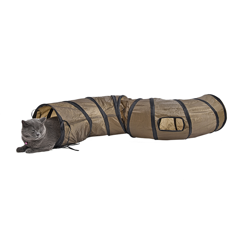 windows cat tunnel Long 1.2M Lovely Fun Design 2 Windows and 2 Holes Cat Tunnel-Free Shipping HTB1zG8EqEl7MKJjSZFDq6yOEpXaG