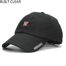 (BUILT CLEAR) 2017 new W embroidery men and women black hat snapback ladies leisure sports hat wholesale baseball cap man