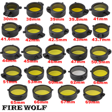 FIRE WOLF Rifle Scope lens Cover  Internal diameter Transparent yellow glass hunting shooting 24 Sizes