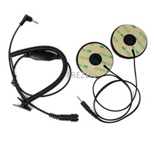 Helmet Motorcycle Motorbike Headset Earpiece 3.5mm For MP3 MP4 GPS 3.5 Earphone