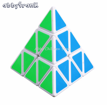 Abbyfrank Brand New Pyramid Magic Cube Pyraminx Speed Puzzle Cube Game Cubos Magicos Triangle Shape Twist Puzzle Children Toys(China)