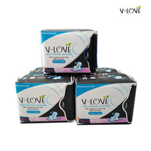 VLOVE Ultra thin disposable feminine sanitary pads for women, High absorbency for heavy flow in night  3packs/set(24pcs)