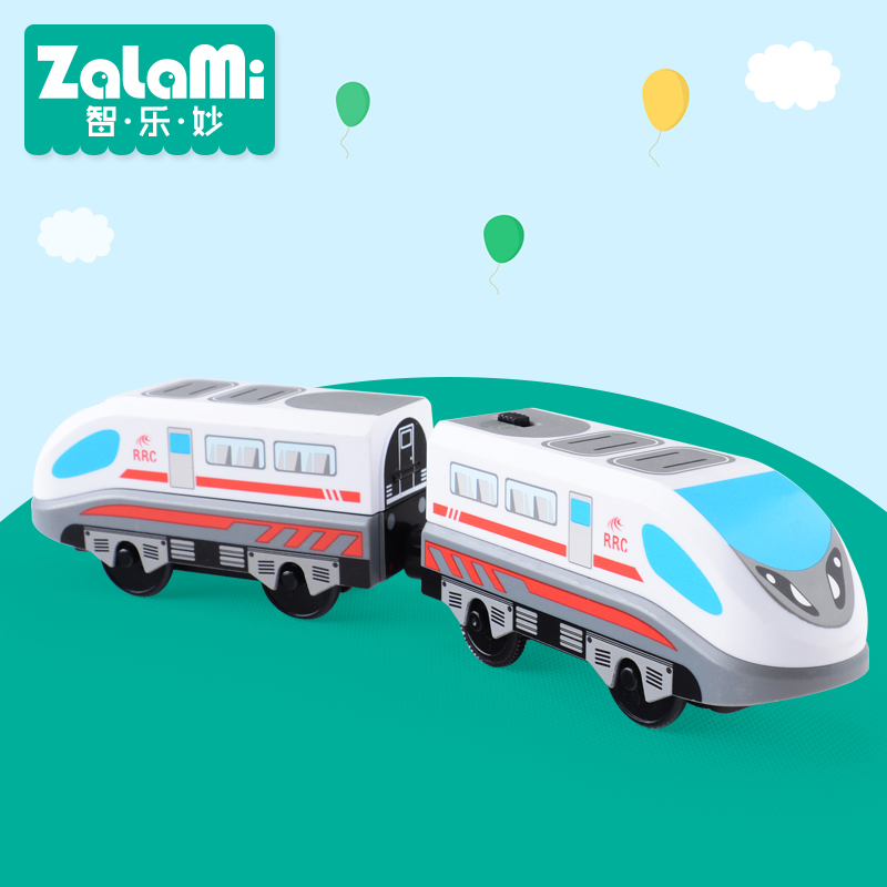 Zalami Electric Railroad Train Set Education Toy Railway Truck Train toys 2017NEW Play on tracks(China)