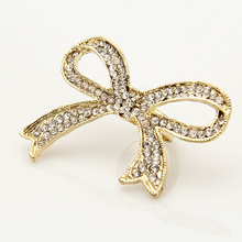 Ladies Bow Tie Ring Issued Charming Big Bowknot Rhinestone Chic adjustable Ring For Women Girl Wedding Party