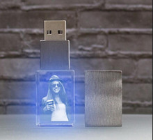 New Arrival 3D Character Custom Human Photo Design USB 2.0 Memory Flash Stick Pen Drive with Elegant Box(China)
