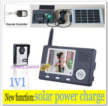 Stable Signal Solar Power Charger  Wireless Intercom Video Door Phone Wireless Remote Control Unlock Free Shipping