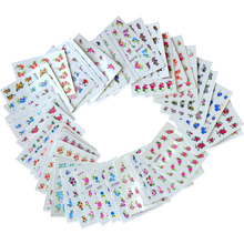 50Sheets Water Transfer Nail Art Flowers Stickers Watermark Nail Decals Beauty Tips Decoration DIY Wraps Nail Tools LA1151-1200(China)
