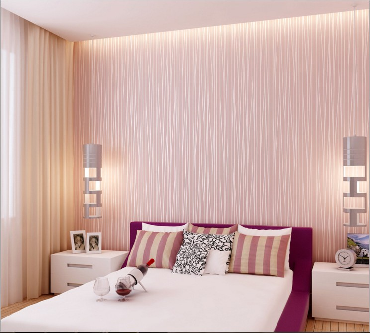 Factory special pure pigment color stripe put with wallpaper Home sitting room bedroom background wall stickers moonlight forest<br>