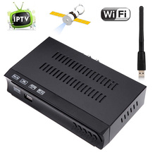 1G 8M RAM DVB-S2 HD Digital Satellite IPTV m3u Combo Receiver Set Top BOX TV Tuner Support USB WIFI IKS Biss Key Power VU Cccam(China)