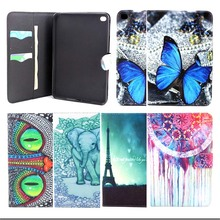 Fashion blue buttery PU Leather Flip Case for Apple iPad Mini 4 Stand Protector Cover for ipad mini4 Tablet Accessories S4D67D