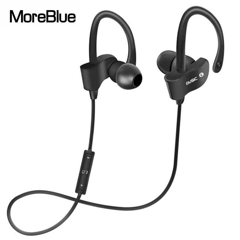 MoreBlue 56S Wireless Bluetooth Earphones Waterproof IPX5 Headphone Sport Running Headset Stereo Bass Earbuds Handsfree With Mic(China)