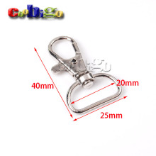 "50pcs 3/4""(20mm)Webbing Strap Metal Lobster Clasps Snap Hooks Swivel Bag Parts & Accessories Nickel Plated KeyChain#FLQ059-C"