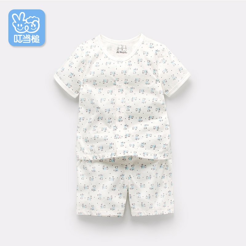 Dinstry Baby boys&amp; girls short sleeve suit for aged 6Month to 2years  summer ,summer baby set with bear printing<br>