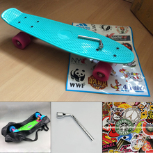 peny board kateboard with bag cool color truck 4 wheel longboard mini cruiser long board banana pnny style skate board patins(China)