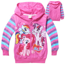 3 - 10 years old Frozen Girls winter Autumn Children Outerwear My little Pony Jackets Coat Hoodies Clothing Roupas Infantil(China)