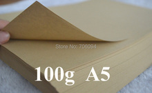 400pcs/Lot 100gsm A5 Brown Kraft Paper Wrapping Paper for Gift Soap Flower Book Printing Paper
