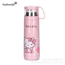 Children Insulation kettle Water Bottle Hello Kitty/Doraemon/Small yellow people Cartoon Stainless Steel Travel D0(China)
