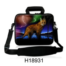 "10""13""14""15""17""Laptop Sling Satchel Messenger Neoprene Bag  Lonely Animal Type Netbook Handle Baldric Sling Cover Pouch For IBM"