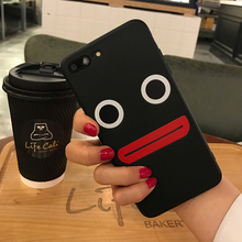 Lovely Simple Black soft thin case For Apple iPhone 5 5S SE 6 6S 6 Plus 6s Plus 7 7 plus Silicon Phone Cases Cover Fundas Capa