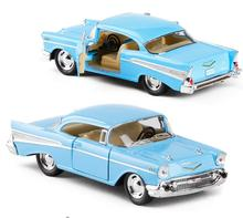 1:43 scale alloy pull back car models,high simulation Chevrolet Bel air 1957,metal diecasts,kid's toy vehicles,free shipping(China)