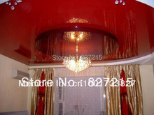 Red Glossy Ceiling Film With Falling Lighting ---Sample production for glossy ceiling film