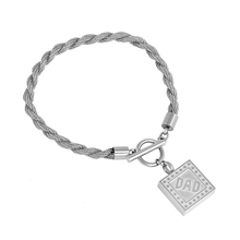IJB5080 Not allergic Pure Stainless Steel Double hinge Chain Bracelet For Ashes Holder Baby Foot Cremation Urn Charm Bracelets