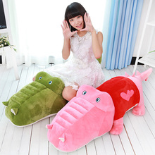 "55"" 140cm Huge size crocodile alligator cayman plush toy stuffed toy doll pillow Kids girlfriend birthday Christmas gift"