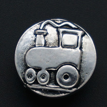 New KZ2113 Beauty Simple train 18mm snap buttons fit DIY snap bracelet jewelry  wholesale