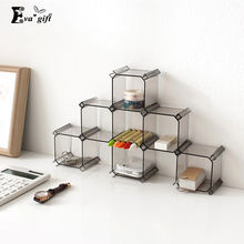 6pcs/set honeycomb box drawer lattice organizer storage holder multifunction DIY cosmetic stationery figure&underwear desk rack(China)