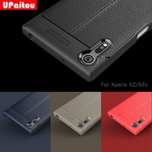UPaitou Quality Litchi Texture Soft TPU Cases for Sony Xperia XZ Cover Silicone Case for Sony XZ F8331 Dual Sim F8332 Back Cover(China)