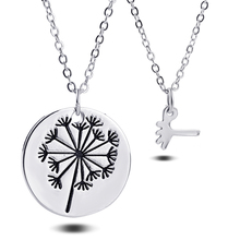 2pcs/set Dandelion Pendant Necklace Mother Daughter Necklace Set Jewelry Simple Special Gift For Mom Daughter Family Jewelry