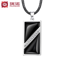 Free shipping,S925 silver+black agate USB flash drive,male pendant necklace male vintage 16GB ram pendant fashion jewelry